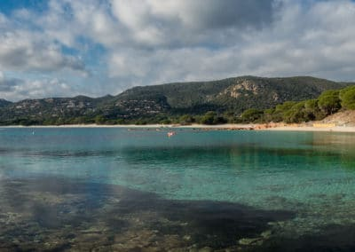 Panoramic view of Palombaggia beach in Corsica